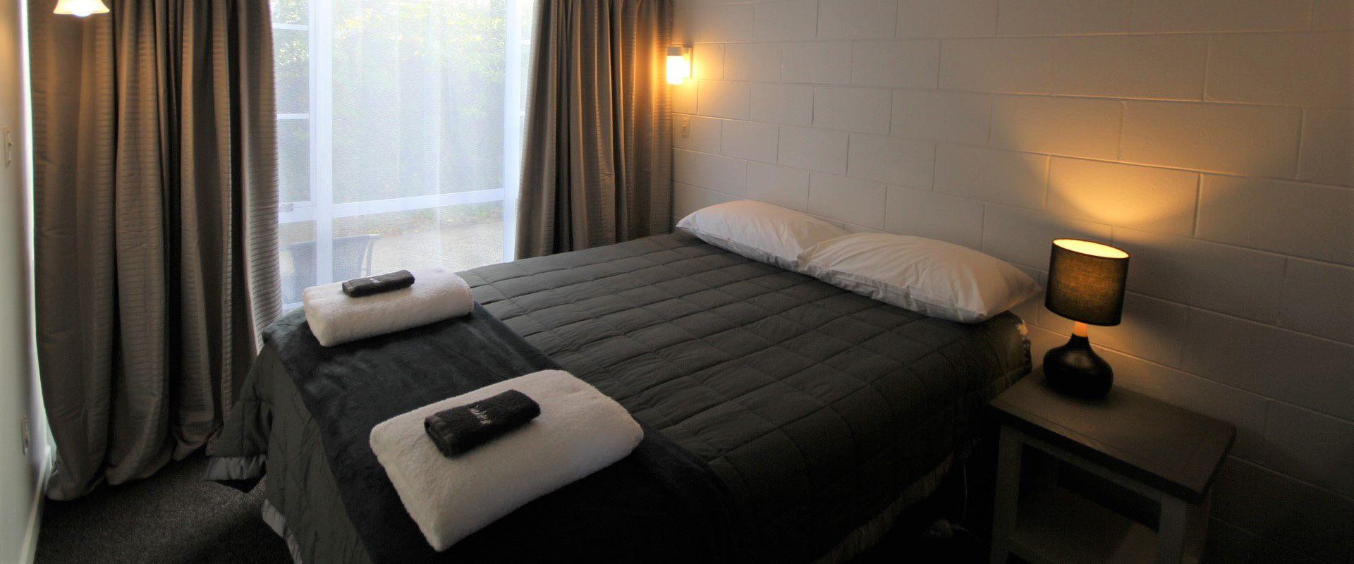 large 2-bedroom unit bedroom