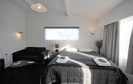 large studio unit bed
