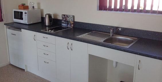 kitchenette of cabin