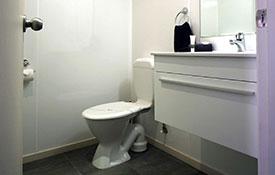 bathroom in studio unit