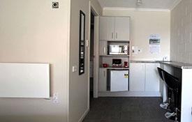 kitchen area in studio unit