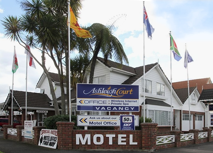 Ashleigh Court Motel Rotorua is located in very quiet surroundings