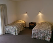 Dargaville studio with 2 single beds