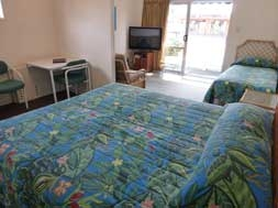 large twin studio unit can accommoadte three persons
