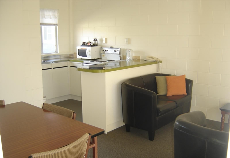 full cooking facilities available in 2-bedroom units