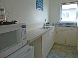 Large twin studio unit - kitchen with hot plates