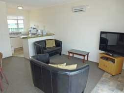 full kitchen in 2-bedroom unit