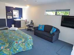 our studio units have tea/coffee making facilities and outdoor area