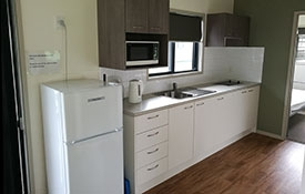 full kitchen facilities available in 2-bedroom cabin