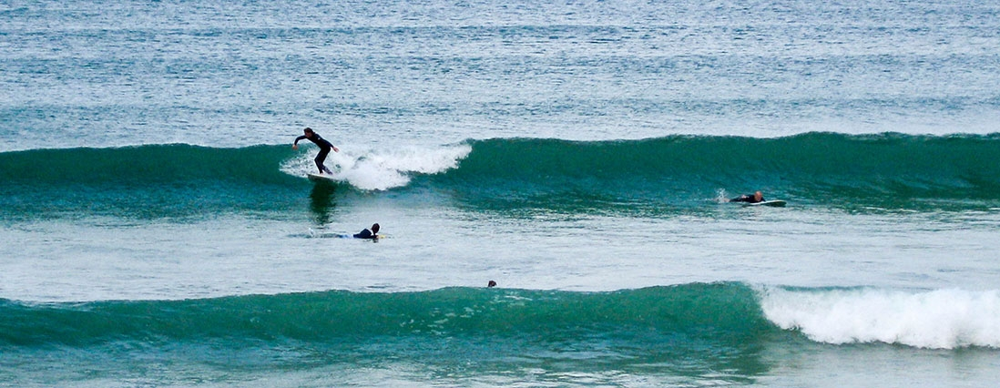 go surfing at Taupo Bay