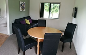 lounge and dining area of 2-bedroom unit