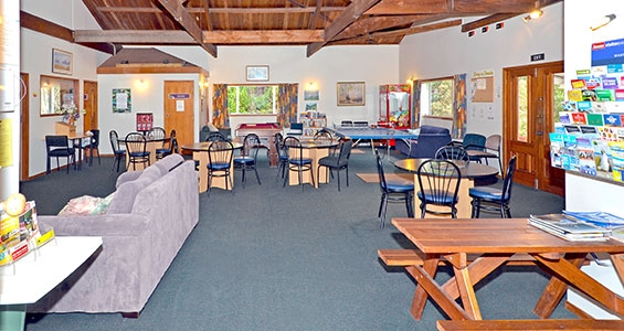 powered sites camp dining room
