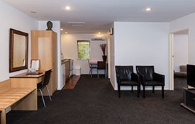 lounge of one-bedroom unit