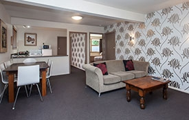 one-bedroom unit which can accommodate up to 7 guests