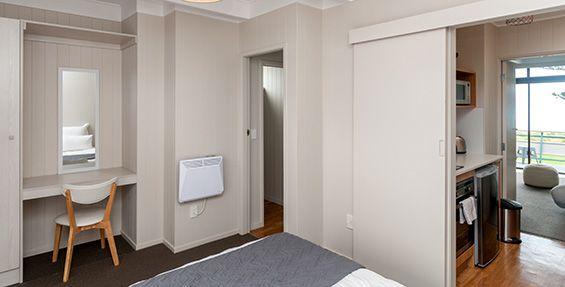 revamped upstairs apartment bedroom