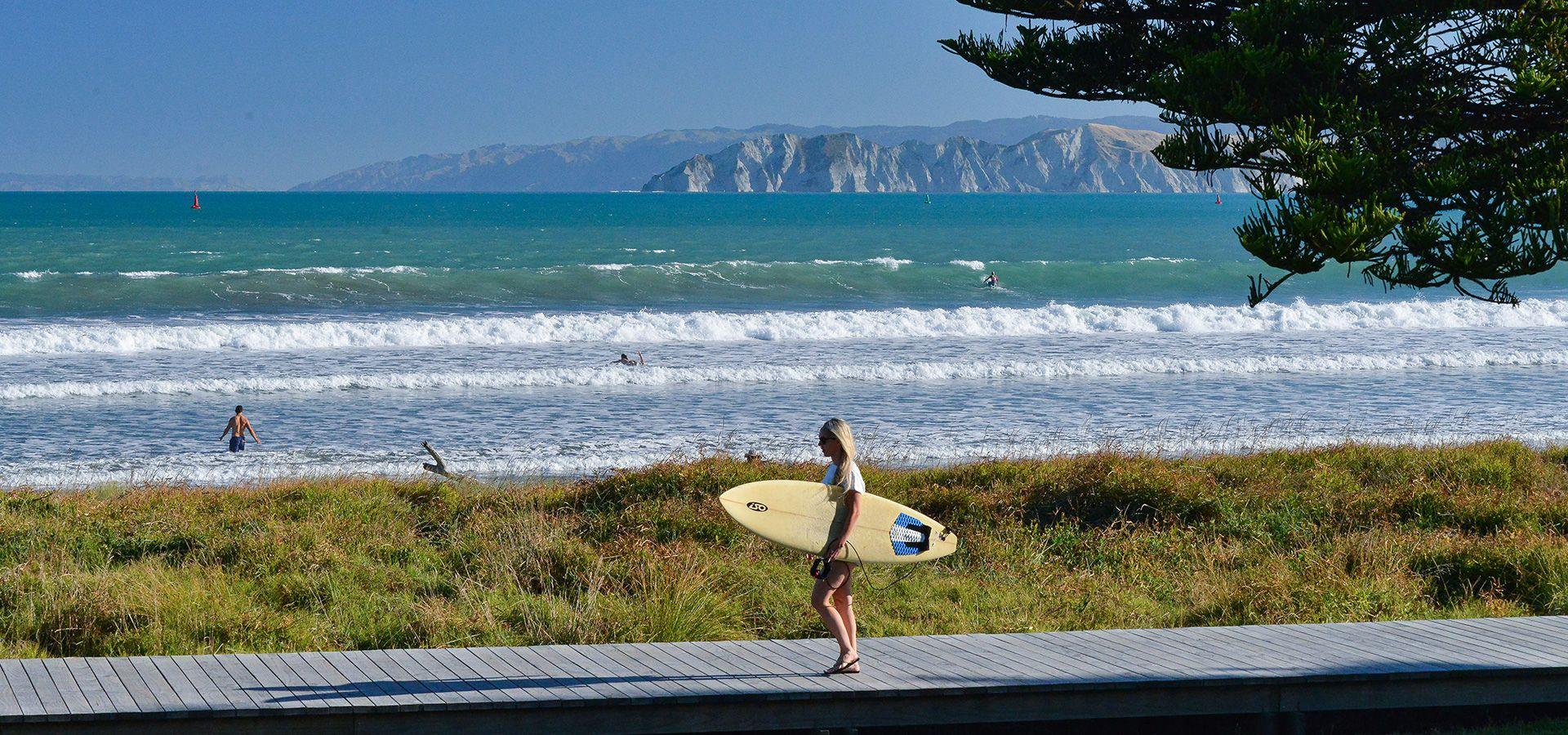 Gisborne surfing