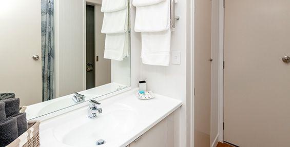 revamped ground floor apartment bathroom