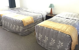 Triple Unit has 1 double bed and 2 single beds