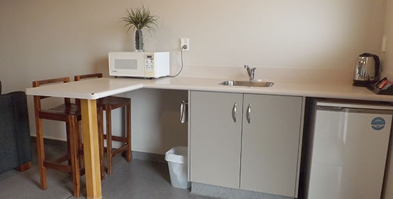 kitchen facilities of one-bedroom unit