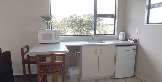 kitchenette with microwave, fridge and tea-coffee making facilities