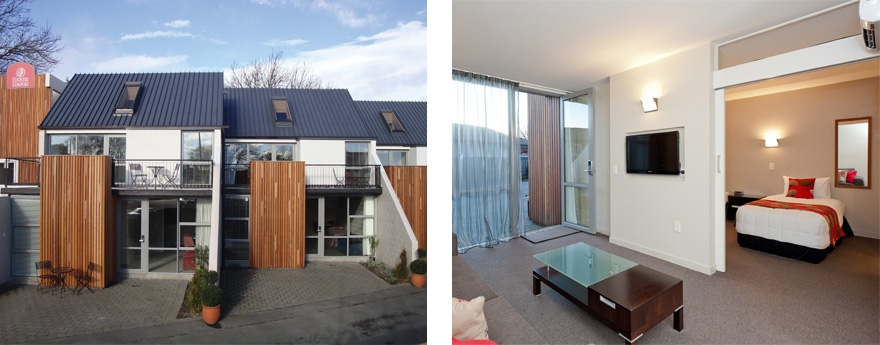 professional designed Christchurch city accommodation