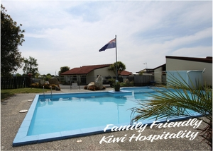 Fern Motel in Napier with large swimming pool