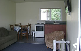 full kitchen facilities in 1-bedroom unit