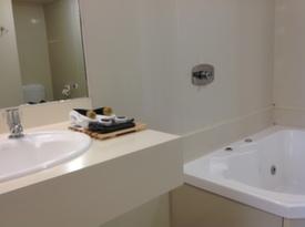 spa bath in bathroom