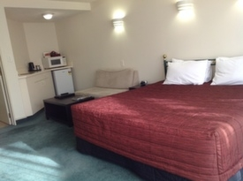 large studio with king-size bed