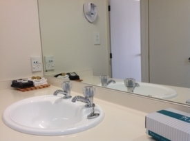 two bathrooms in the unit - one with spa bath