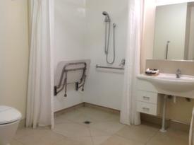 foldaway seat in shower
