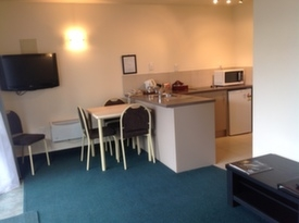 lounge and dining area of 1-bedrrom unit