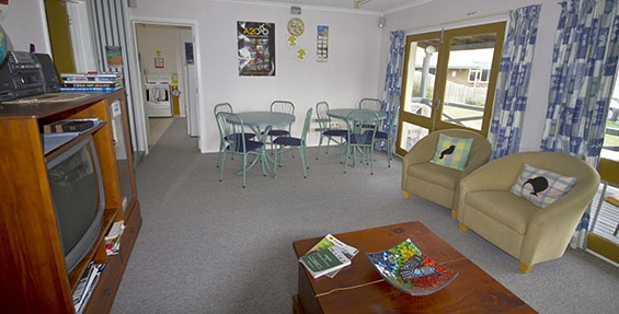 backpackers facility lounge