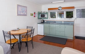 spacious lounge and well-equipped kitchenette