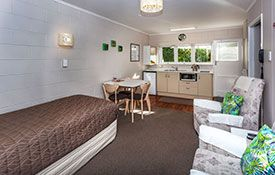 fully equiped kitchenette of 1-bedroom unit