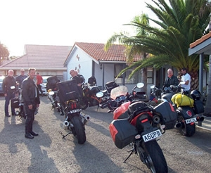 Motorcycle club at Cortez Motel