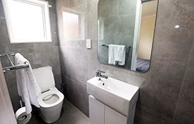 self-contained unit bathroom