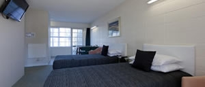 spacious rooms with comfortable beds