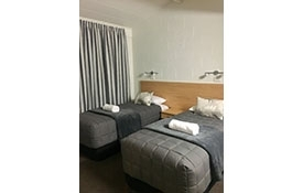 our 2-bedroom apartment can accommodate 5 persons