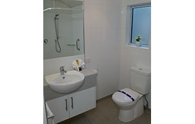 luxury bathroom of executive studio unit