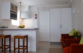 kitchen facilities of executive studio unit