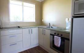 Full kitchen facilities in 2 Bedroom suite