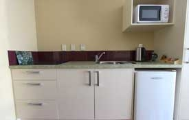 1 Bedroom kitchen with hob and microwave