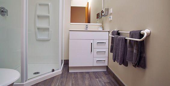 Double Studio Units bathroom with shower