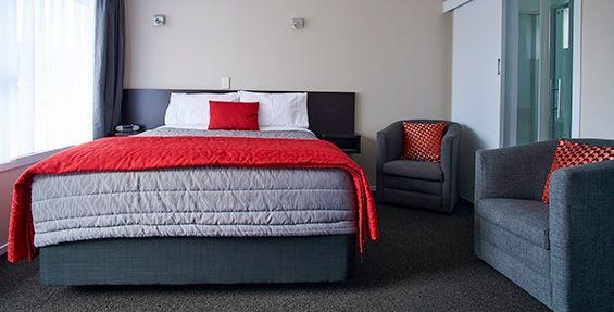 Twin Studio Units queen-size bed