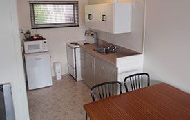 kitchenette and dining areas
