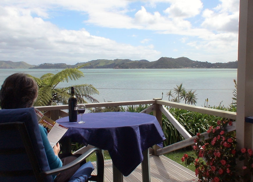 enjoy lovely sea views from your own private deck