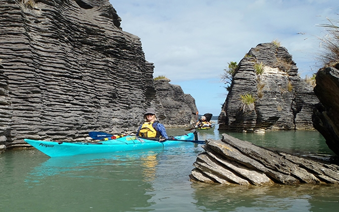 Kawhia activities - kayaking