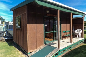 Kawhia cabins which can accommodate upto 6 people