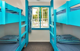 Backpackers Dormitory has 10 single fixed bunk beds